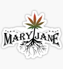 Earthy Mary Jane Roots Sticker