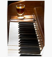 Piano Whiskey Row Color Print Poster
