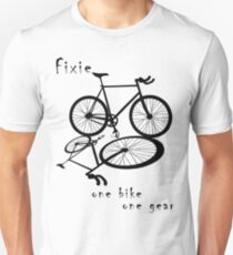 Fixie - one bike one gear (black) Slim Fit T-Shirt