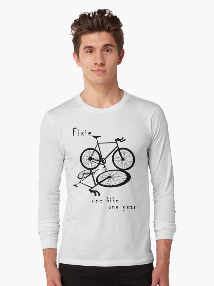 Fixie - one bike one gear (black) by Stefan Trenker