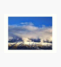 Winter Storm Over the Rockies Art Print