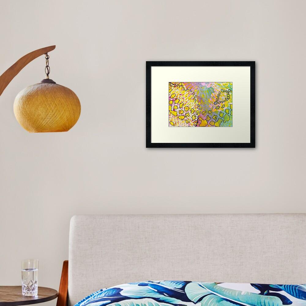 9, Inset A Framed Art Print