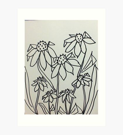 Crazy Daisey , sketch, from series Art Print