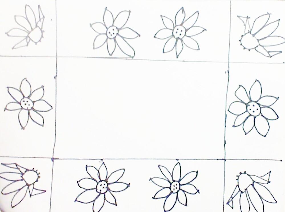 Daisey , work, sketch by Anna  Lewis, blind artist