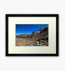 Looking down from the Sulzenauferner Framed Print
