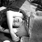 1982 - allmendfest: the tour promotor, asleep by Ursa Vogel
