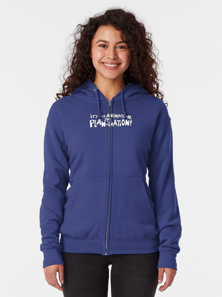 Alternate view of It's Not Animation, it's PLAN-imation! Zipped Hoodie