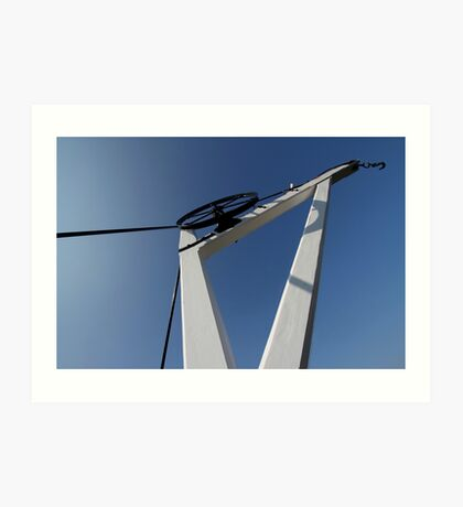 19th Centry Crane - Newbury Warf Art Print
