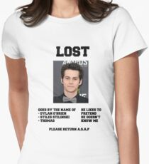 LOST POSTER - DYLAN O'BRIEN Womens Fitted T-Shirt