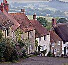 Down the Street - Shaftsbury England by Debbie Pinard
