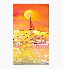 Sunset Sailboat Photographic Print