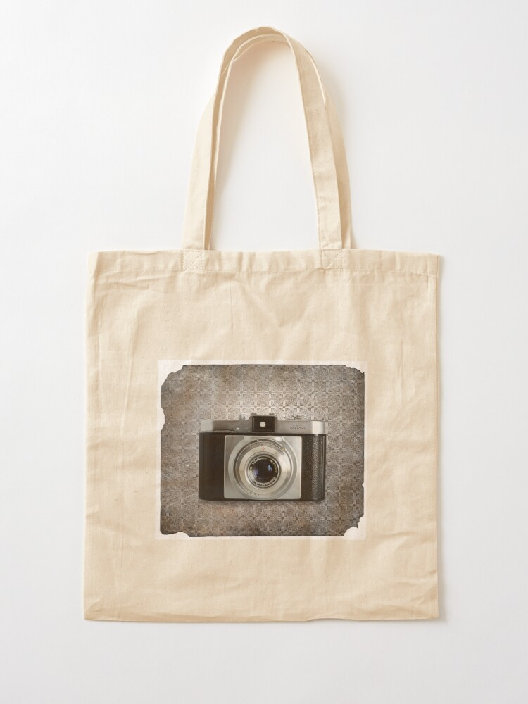 Alternate view of iLoca 35mm Camera Vintage Black and White Tote Bag