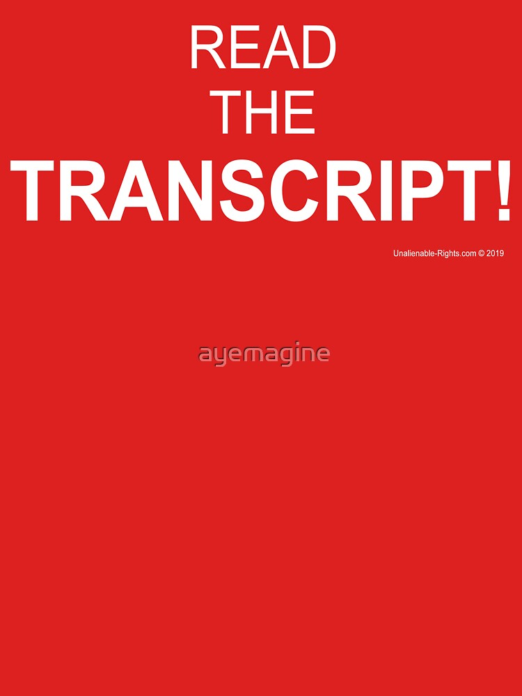 Read The Transcript! by ayemagine