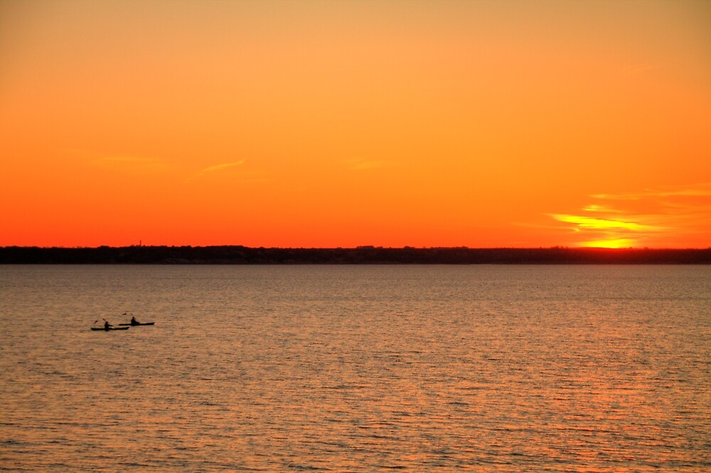 Skimming the Vermillion Ripples of Lake Whitney by Terence Russell