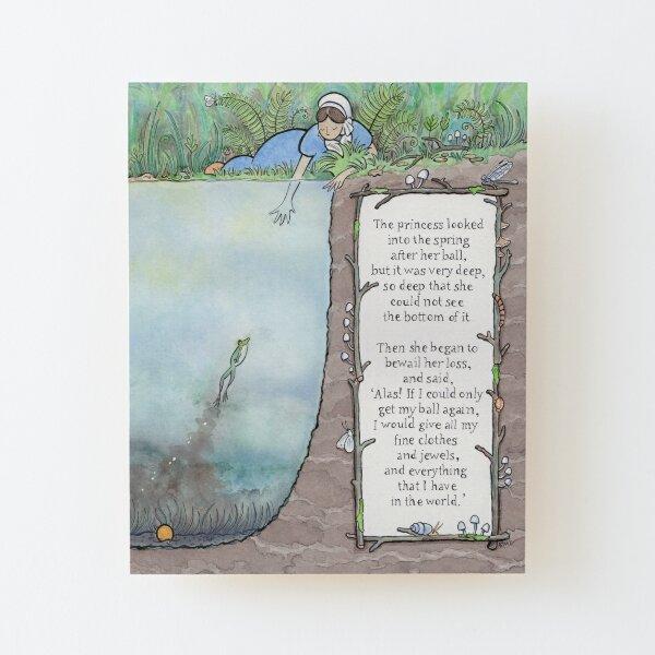 The Frog Prince Wood Mounted Print