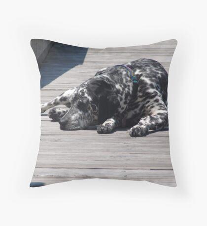 Kokomo, the Dockmaster's Dog Throw Pillow