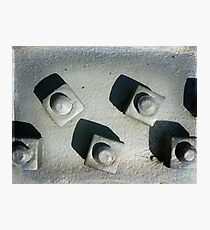Girder Bolts Photographic Print
