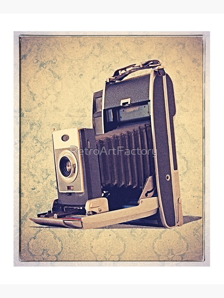Polaroid Camera with Bellows - Vintage Color by RetroArtFactory