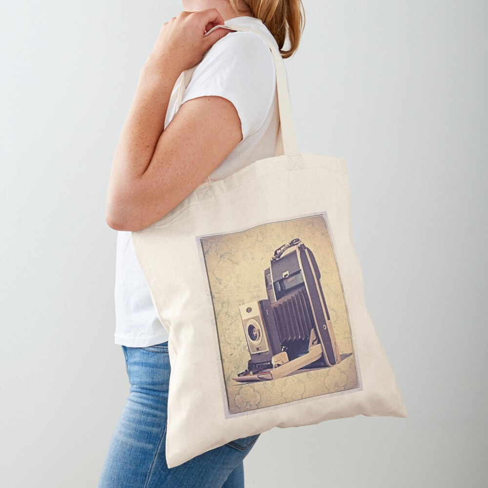 Polaroid Camera with Bellows - Vintage Color Tote Bag