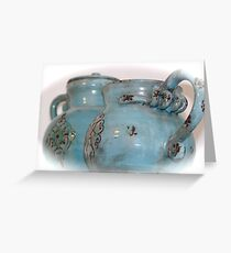 dated in blue Greeting Card