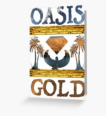 """""""Oasis Gold"""" shirt all white Greeting Card"""