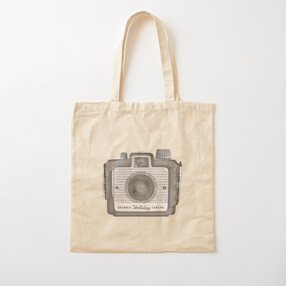 Brownie Holiday Camera Cotton Tote Bag