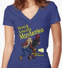 Nomi and Amanita Mysteries Women's Fitted V-Neck T-Shirt