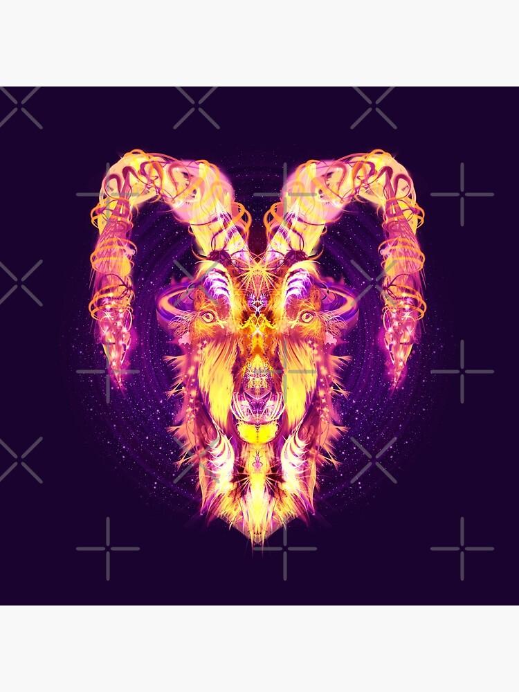 Capricorn Zodiac Lightburst by ifourdezign