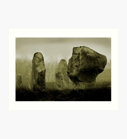 Cold Morning at Avebury Henge Art Print