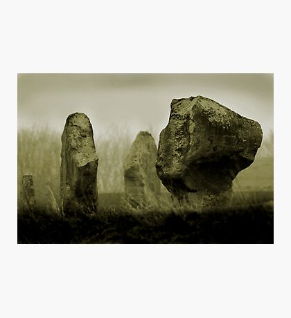 Cold Morning at Avebury Henge Photographic Print