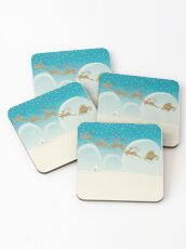 Santa Claus Deer Coasters