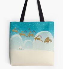 Santa Claus Deer Tote Bag