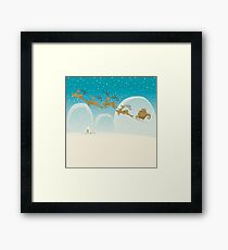 Santa Claus Deer Framed Print