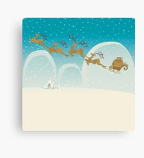 Santa Claus Deer Canvas Print