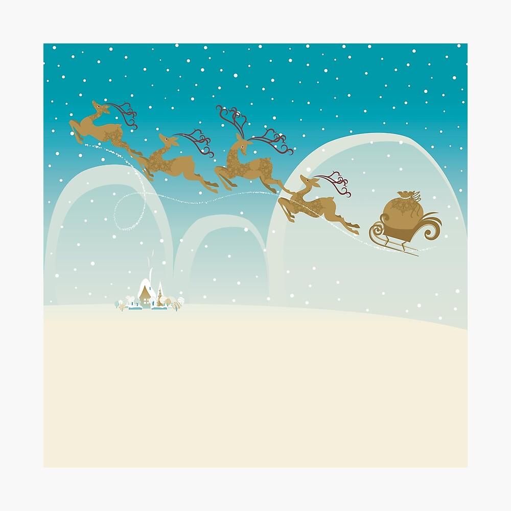 Santa Claus Deer Photographic Print