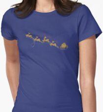 Santa Claus Deer Fitted T-Shirt