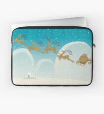 Santa Claus Deer Laptop Sleeve