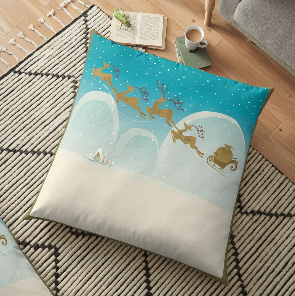 Santa Claus Deer Floor Pillow