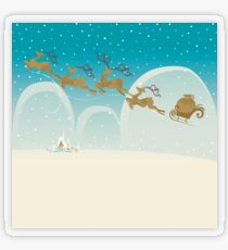 Santa Claus Deer Transparent Sticker