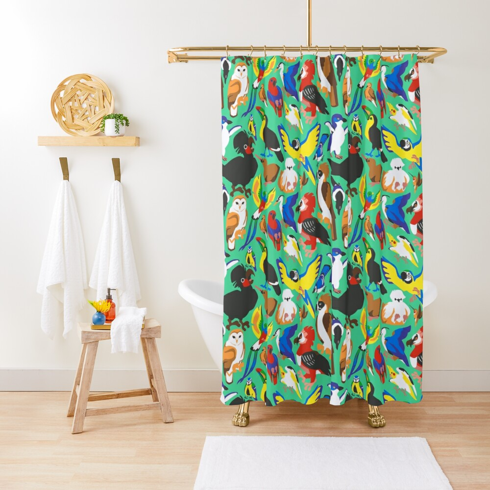 To Feather, But Not to Scale Shower Curtain