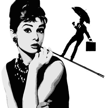 Audrey Hepburn and the man by Vintagestuff
