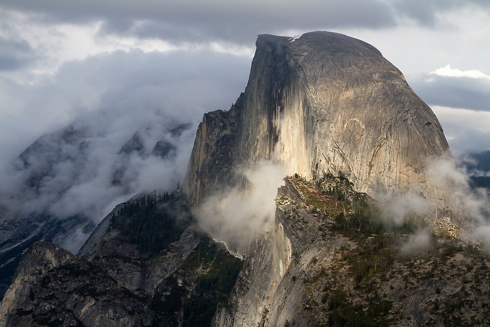 Half Dome in Storm by yosemiteHikes