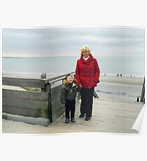Day to the Zeeland Beach Poster