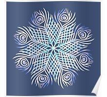 Peacock feathers / Mandala Poster