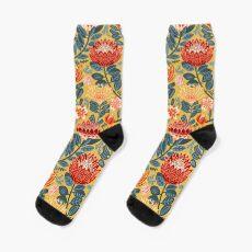Protea Chintz - Mustard Sock