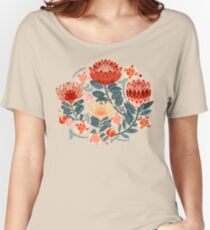 Protea Chintz - Mustard Relaxed Fit T-Shirt