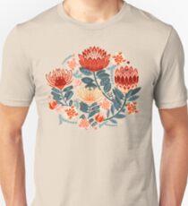 Protea Chintz - Mustard Slim Fit T-Shirt
