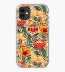 Protea Chintz - Mustard iPhone Case