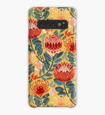 Protea Chintz - Mustard Case/Skin for Samsung Galaxy