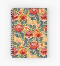 Protea Chintz - Mustard Spiral Notebook